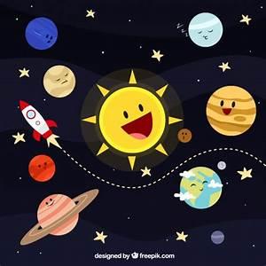 Solar system illustration Vector | Free Download