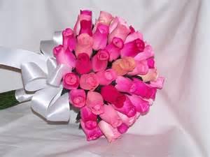 pink wedding flowers feminine pink wedding flowers