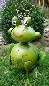 Frosch Deko Garten : garten figur frosch froschk nig metall deko windlicht ~ Articles-book.com Haus und Dekorationen