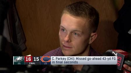 cody parkey reacts  late field goal   eagles