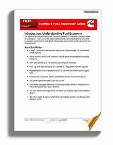 Cummins Fuel Economy Guide