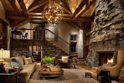 cave a vin de cuisine chalet montagnard fait de bois et de