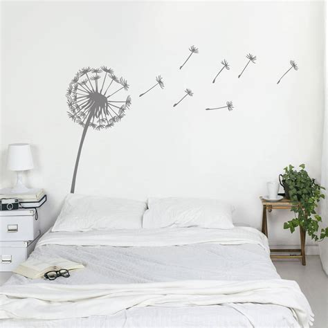 sticker phrase chambre dandelion wall sticker by oakdene designs