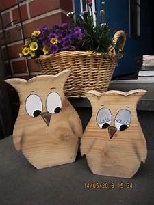 Holz Bastelvorlagen Kostenlos : zwei sch ne eulen aus bauholz sie sind s gerau verarbeitet was aber gerade den charm dieser ~ Yasmunasinghe.com Haus und Dekorationen
