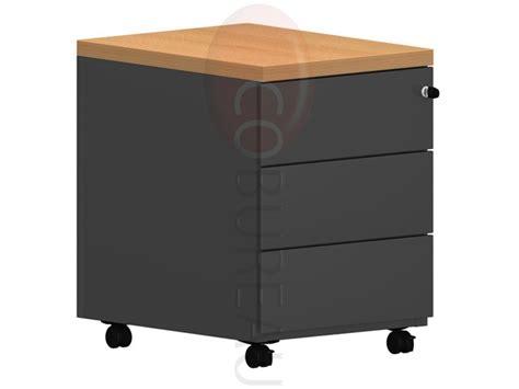 caisson mobile 3 tiroirs pro m 233 tal noir