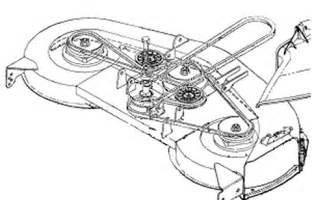 cub cadet 46 inch mower deck belt diagram cub free