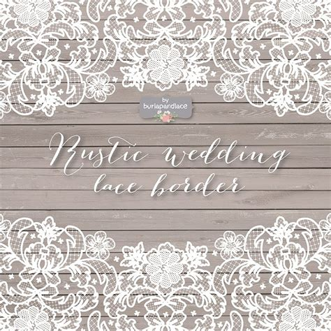 vector lace wedding border clipart illustrations