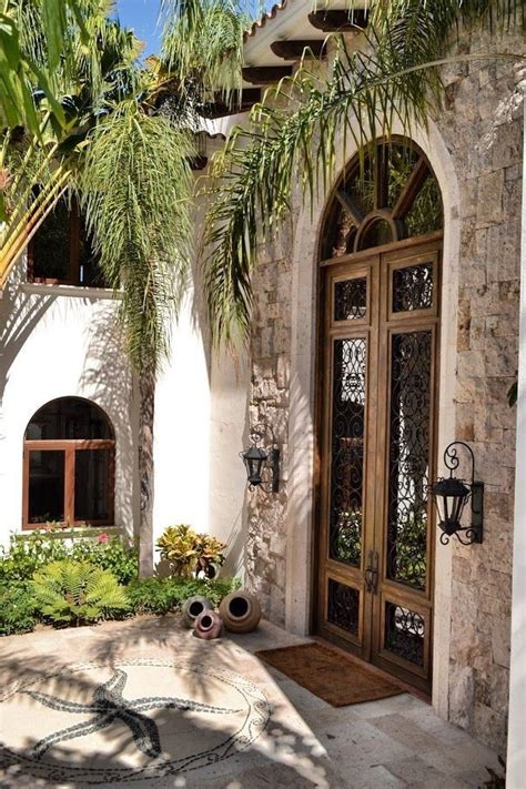 front entrance spanish style homes mediterranean homes