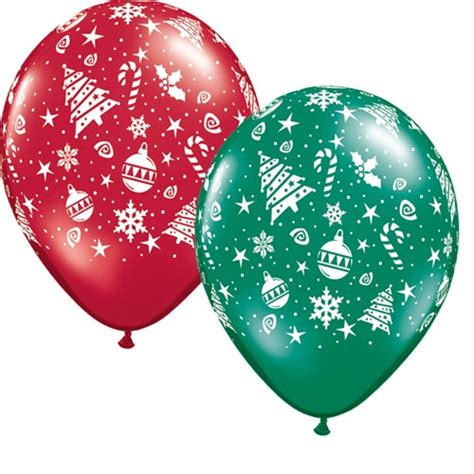 assorted christmas latex balloons partycheap