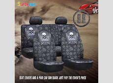 Car Seat Covers Airbag Compatible Cool Sleek Styling Skull