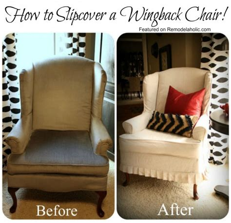 remodelaholic slipcovered wingback chair that i want