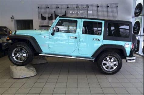 teal jeep wrangler tiffany blue jeep wrangler jk tiffany blue cars jeeps