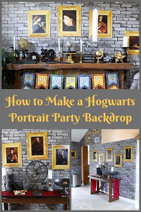 hogwarts inspired diy portrait backdrop whip