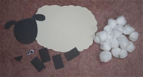 cotton ball sheep craft  kids network