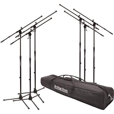 on stage ms7701b euroboom microphone stand with bag msp7706 b h