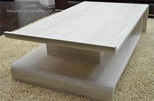 51quot rectangular marble coffee table and travertine origami With marble granite coffee tables