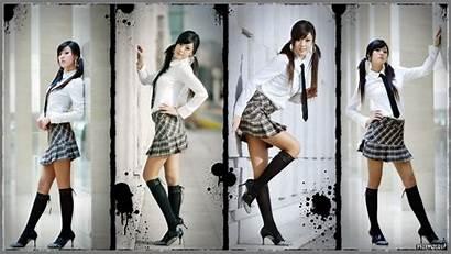 Korean Hwang Mi Hee Schoolgirl Uniform Heels
