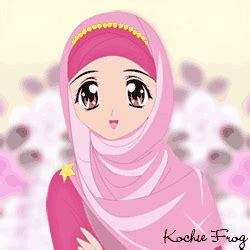 gambar dp wa animasi muslimah bergerak terbaru kochie