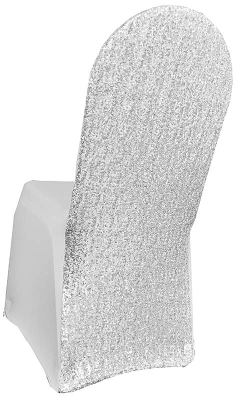 white sequin spandex chair covers wholesale