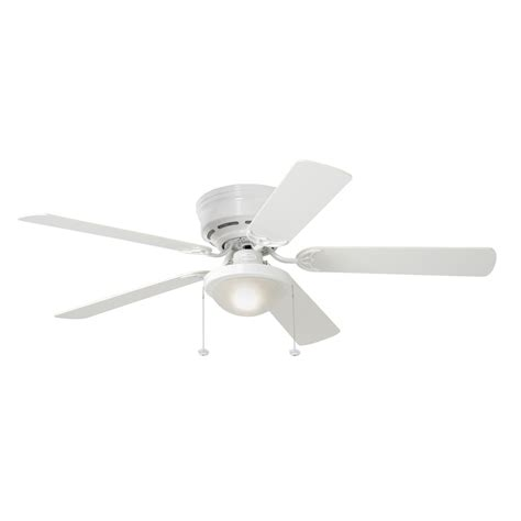 white flush mount ceiling fan shop harbor breeze armitage 52 in white flush mount indoor
