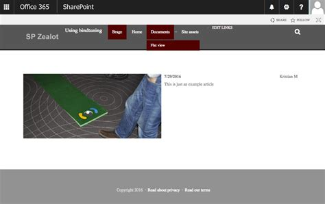 bindtuning basic bootstrap theme  sharepoint