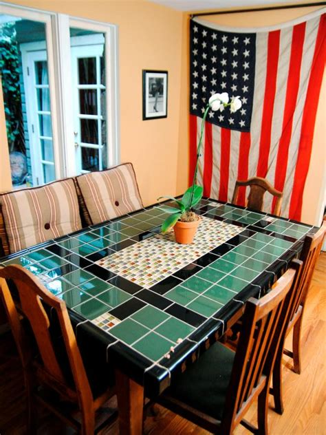 create  mosaic tile tabletop hgtv