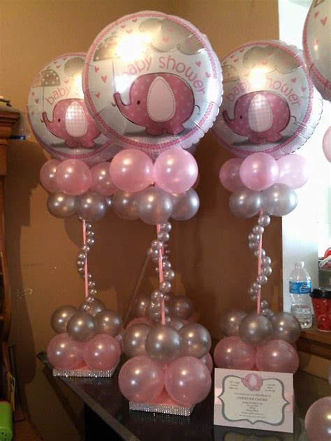 baby shower centerpieces with balloons rosielloons arreglos con globos pinterest