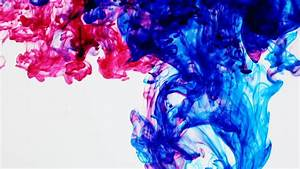 Rainbow Inks In Water (HD). Colorful Ink Streams Traverse ...