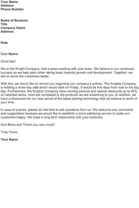 Follow Up Letter After Sales Presentation