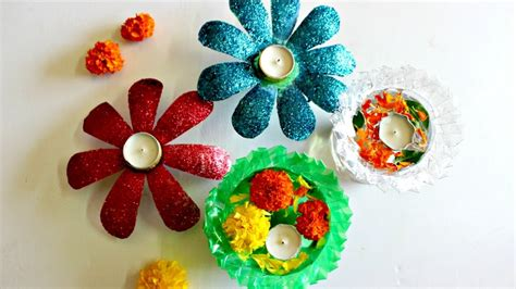 Decorating Ideas Using Plastic Bottles by Diwali Decoration Idea Using Only 2 Plastic Bottles