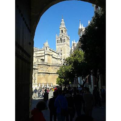 Reales Alcazares in Spring. Oasis the city of Seville