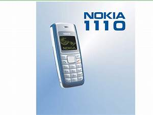 Nokia Cell Phone 1110 User Guide