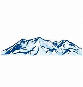 Mountain Range Silhouette Clipart
