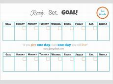 [FREE Printable] Two Week Goal Calendar – Jamye Sack