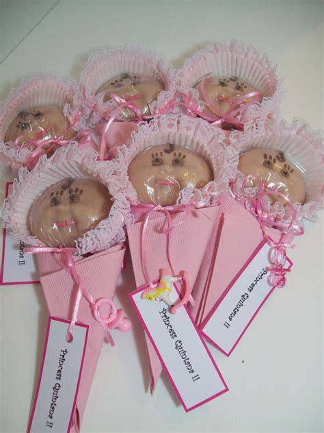 cedargap creations cookies chocolate bonnet pink frilly baby shower favors