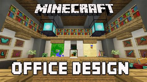 minecraft tutorial   build  modern house ep cool office furniture design ideas youtube