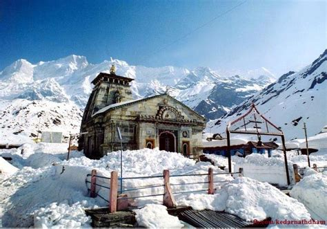 Kedarnath Temple Winter Photos Pictures, Wallpapers