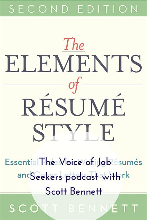the elements of resume style with