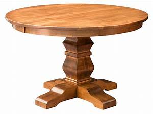 Set Table Rond : amish round pedestal dining table solid wood rustic expandable 48 54 new ebay ~ Teatrodelosmanantiales.com Idées de Décoration