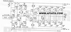 Soft Wiring  10000 Watts Power Amplifier Schematic Diagram