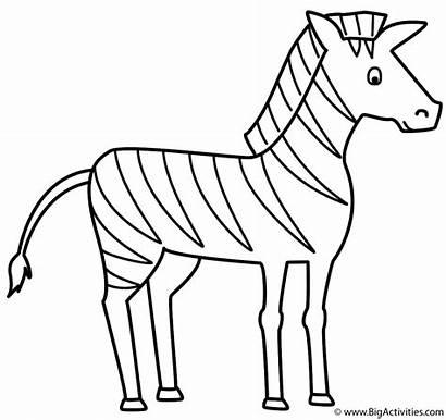 Coloring Alphabet Letter Zebra