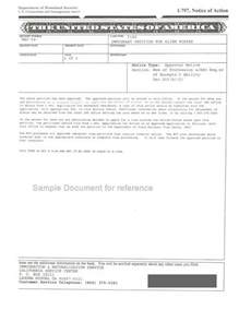 sle i 140 notice of approval