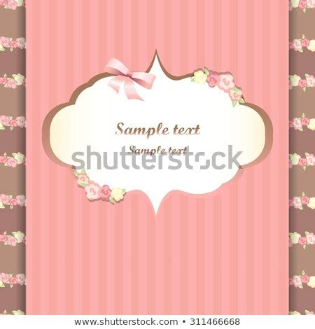 feminine doodles gorgeous frame french style stock vector