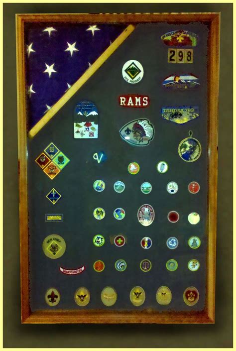 hand  wood shadow boxes  cub scouts boy scouts