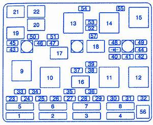 Chevrolet Malibu 1998 Underhood Junction Fuse Box  Block Circuit Breaker Diagram