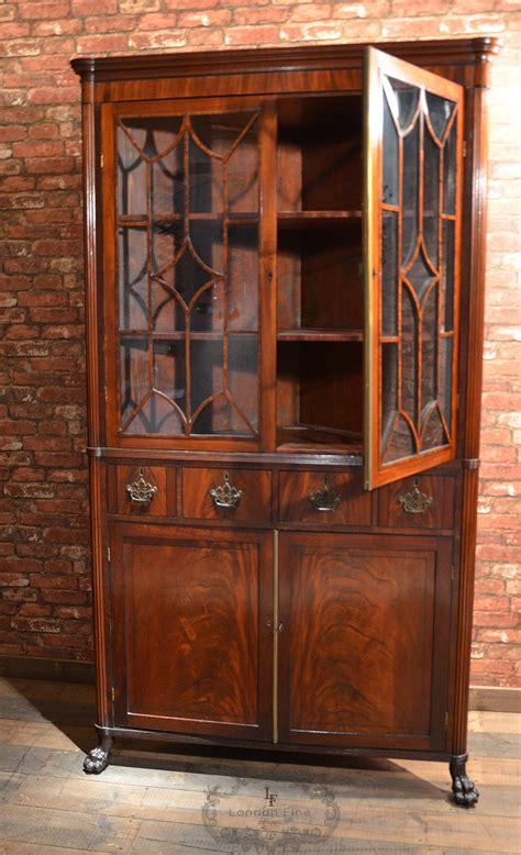 Antique Corner Cupboards For Sale by Antique Regency Corner Cabinet Astragal Glazed