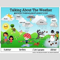 Wwwtheenglishstudentcom, The English Student, Talking About The Weather, Words Describing The