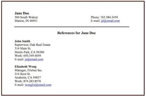 How To Put References On Resume by How To Include References On A Resume Resume