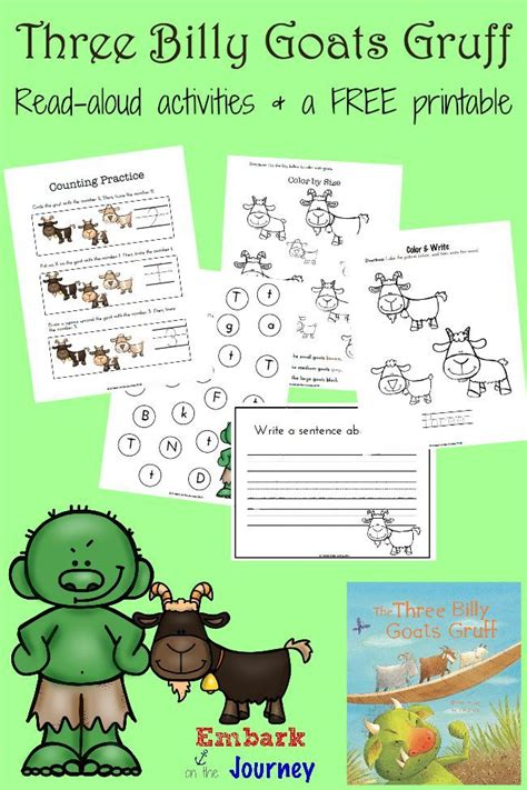 three billy goats gruff activities for preschool three billy goats gruff printables and activities 513
