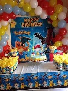 Deco Anniversaire Pokemon : pokemon party decoration pokemon party pinterest ~ Nature-et-papiers.com Idées de Décoration